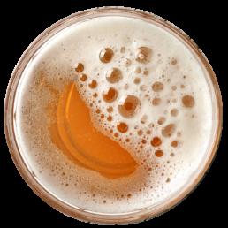 verre de biere vu d'en haut