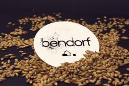sous-bock pour bière avec logo de la brasserie Bendorf