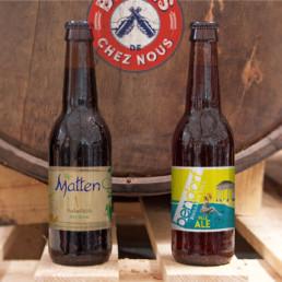 bouteilles de bières artisanales